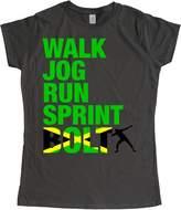 Stoobe Origina Print Stoobe Womens's Usain Bot Charcoa T-Shirt