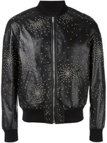Saint Laurent oversized teddy studded jacket - men - Cotton/Lamb Skin/Cupro/metal - 50