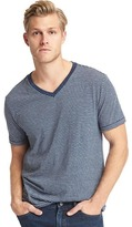 Essential pinstripe V-neck tee