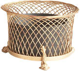 """Chelsea House 15"""" Round Dolphin Planter - Gold/Black"""