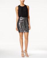 GUESS Metallic Sequin Blouson Dress