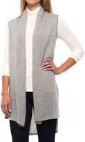In Cashmere High-Low Vest - Cashmere, Open Front (For Women)