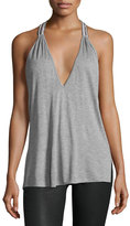 Haute Hippie The Rebel Two-Strap Tank Top, Light Gray