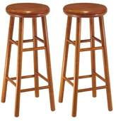 Winsome Wood Assembled 30-Inch Finish Swivel Stools, Set of 2