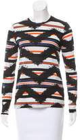 Proenza Schouler Striped Tie-Dye Print T-Shirt