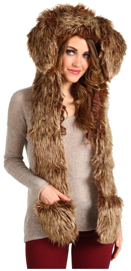 Spirit Hoods SpiritHoods - Brown Rabbit Rio Full Hood (Brown) - Hats