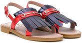 Gucci Kids - GG Horsebit fringed sandals - kids - Leather/rubber - 27