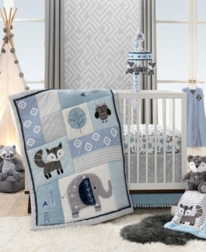 Lambs & Ivy Stay Wild Woodland Animals Nursery 4-Piece Baby Crib Bedding Set Bedding