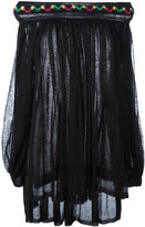 Sonia Rykiel beaded off-shoulders blouse - women - Cotton/Polyamide/Alpaca/PVC - S