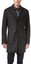 John Varvatos Topcoat with Leather Trim