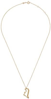 ALIITA Dino Esmeralda 9kt gold necklace