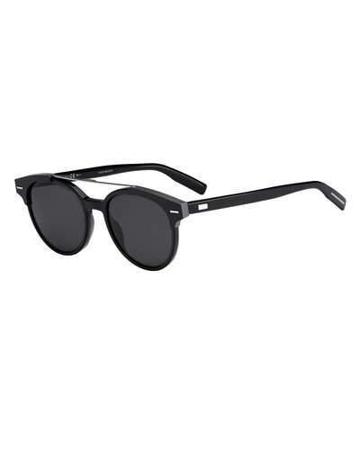 Christian Dior Round Metal-Bar Sunglasses