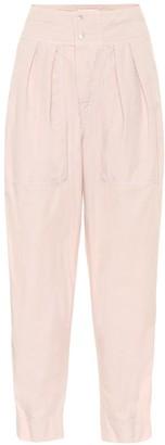 Etoile Isabel Marant Mariz high-rise cropped cotton pants