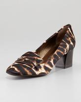 Lanvin Leopard-Print Calf Hair Loafer Pump