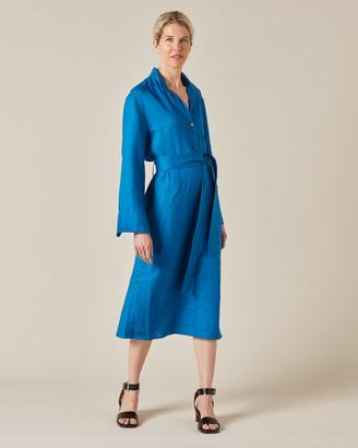 Jigsaw Linen Utility Shirt Dress