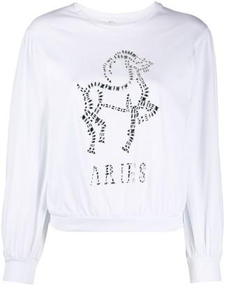 Alberta Ferretti Aries crystal-embellished sweatshirt