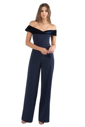 Black Halo Yoli Color Block Jumpsuit
