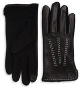 Lauren Ralph Lauren Wool-Blend and Leather Touch Gloves