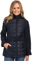 Kenneth Cole New York Women's Lightweight Quilted Belted Softshell