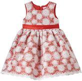 Nannette Toddler Girl Sequin Flower Flocked Dress