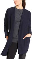 Athleta Navy Chill Chaser Merino Wool-Blend Open Cardigan