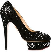 Charlotte Olympia 'Bejewelled Dolly' pumps - women - Leather/Suede - 38