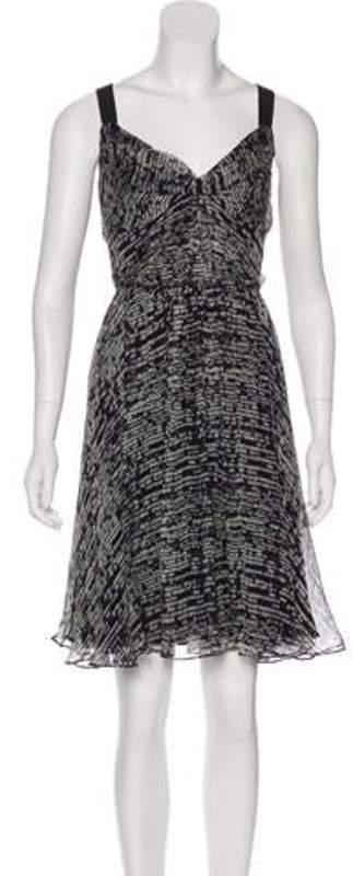 DKNY Silk Midi Dress Black Silk Midi Dress