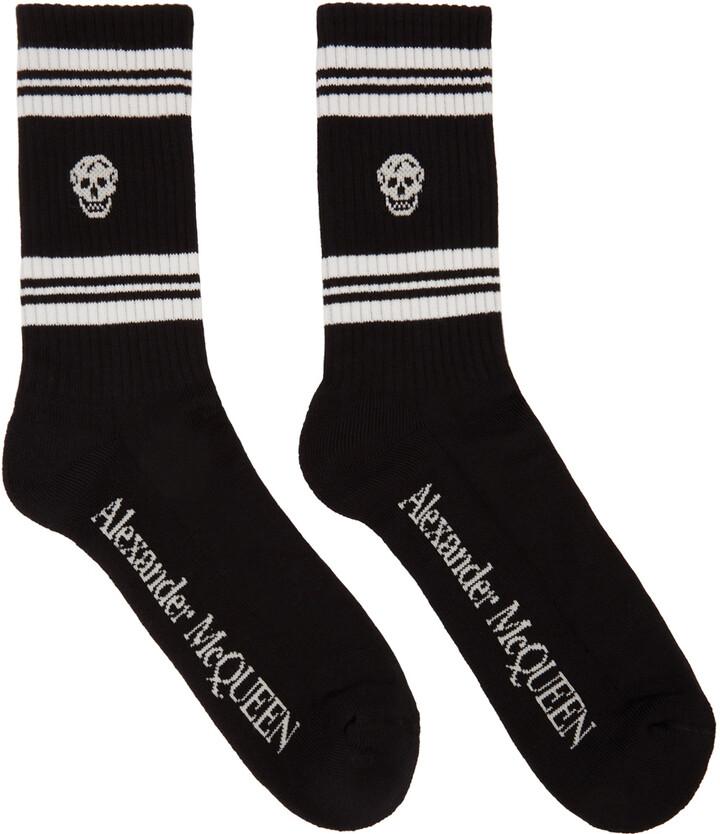 Alexander McQueen Black Skull Sport Socks