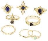 Charlotte Russe Embellished Stackable Rings - 8 Pack