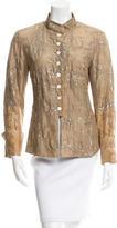 Dries Van Noten Silk Sequin-Accented Jacket