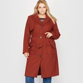 CASTALUNA Trench Style Coat, 40% Wool