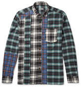 Lanvin Patchwork Checked Cotton-Flannel Shirt