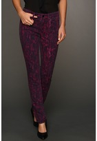 Calvin Klein Jeans Knit Lace Print Denim in Deep Fuchsia (Deep Fuchsia) - Apparel