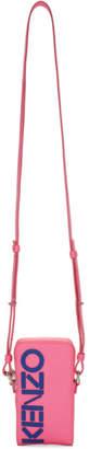 Kenzo Pink Konstrast Zip Phone Pouch