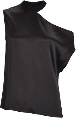 RtA Axel Silk Cut-Out T-Shirt