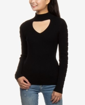 Hippie Rose Juniors' Choker Sweater