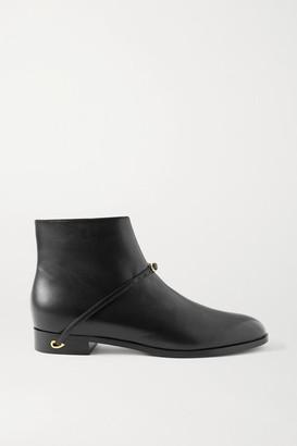 Jennifer Chamandi Gianni Leather Ankle Boots - Black