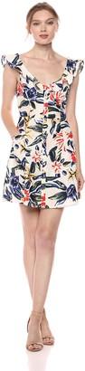 ASTR the Label Women's Alana Ruffle Frill Flare Sleeveless Mini Dress