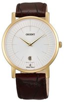 Orient Women's 38mm Brown Leather Band Steel Case Sapphire Crystal Quartz Dial Watch CGW01008W