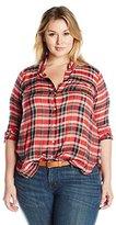 Lucky Brand Women's Plus Size Back Overlay Shirt
