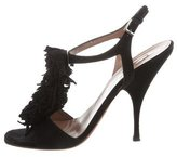 Alaia Suede Fringe Sandals