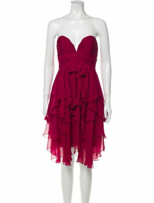 Naeem Khan Silk Mini Dress Pink