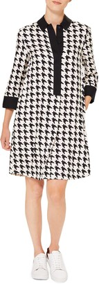 Hobbs Aubery Houndstooth Check Shift Dress