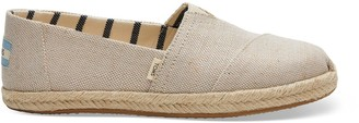 Toms Pearlized Metallic Canvas Women's Espadrilles