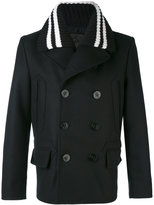 Givenchy knitted collar car coat - men - Cotton/Polyamide/Cupro/Wool - 48