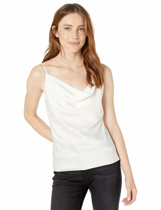 The Drop Women's Christy Cowl Neck Cami Silky Stretch Top