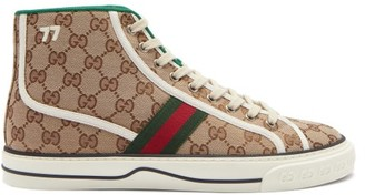 Gucci GG Supreme Canvas High-top Trainers - Beige