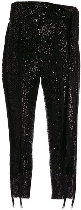 Christian Pellizzari Fringed Sequin Trousers