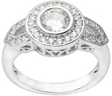 Journee Collection 4/5 CT. T.W. Round Cut CZ Pave Set Bridal Ring in Brass - Silver