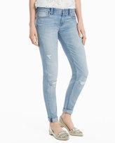 White House Black Market Girlfriend Destructed Crop Jeans